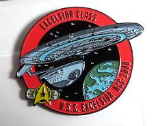 "Star Trek USS Excellsior MicroFleet DELUXE 2"" Cloisonne Pin-FREE S&H (STSH021)"