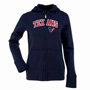 NWT Houston Texans Ladies Signature Full Zip Hoodie by Antigua - Navy Blue Large