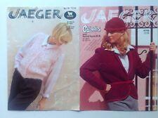 Jaeger - Bundle Of 2 Ladies Waistcoat, Jacket & Hat - Vintage Knitting Patterns