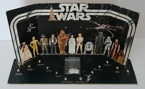 Original Vintage Star Wars Kenner 1977 Early Bird First 12 Figure Display + Pegs