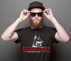 Dobermann T-Shirt DOBIFIZIERT Dobi infiziert Hunde Hund fun Hundemotiv