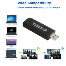 1200Mbps Wireless Network Adapter USB WIFI Dongle Antenna Dual 11AC for Desktop