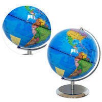 1 Pc World Globe World Map Desktop Globe with Stand for Office Classroom Library