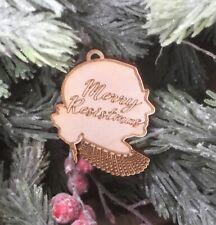 Notorious RBG Merry Resistmas Laser Cut Wood Hanging Ornament Ruth Bader Ginsbur