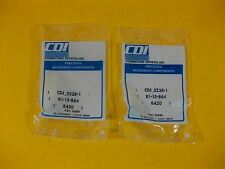 CDI Microwave Connector SMA 4H Flange Jack to S/R Cable -- 5228-1 -- (Lot of 2)