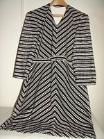 Project Runway for JCP Dress Black and White Chevron Sz XL