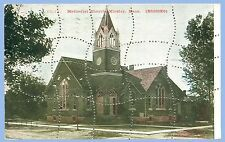 VINTAGE - PERFORATED PUZZLE POSTCARD - METHODIST CHURCH - KINSLEY, KANSAS - 1910