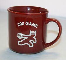 Vintage BRC 200 Game Brunswick Recreation Bowling Center Mug Brown EUC