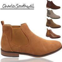 Mens Charles Southwell Chelsea Desert Boot Slip On Work Boots Casual Shoes UK