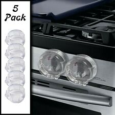 5 Pack Clear Stove Knob Safety Covers - Child Proof Lock for Kids Toddlers Baby