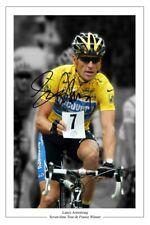 LANCE ARMSTRONG SIGNED AUTOGRAPH PHOTO PRINT TOUR DE FRANCE CYCLING