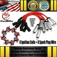 D585 UF262 Ignition Coils & Spark Plug Wires Pack For Chevrolet GMC LS1 LS2 LS3