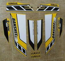 Banshee stickers graphics decals 10pc Special Edition Yamaha Golden Yellow/White