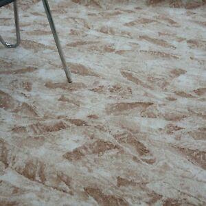 """Teppich """"DONAU beige"""" 200 cm br. Melange Druck - Velours umkettelt NEU"""