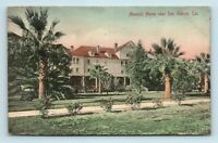San Gabriel, CA - EARLY 1900s HAND COLORED VIEW OF MASONIC HOME - POSTCARD
