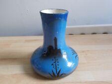 Rare vase faïence Saint Jean du désert COMPAGNIE DE NAVIGATION PAQUET en l'état