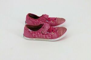 Keds Hello Kitty Little Girls Lace Up Snap Sneakers Canvas & Glitter Size 11.5