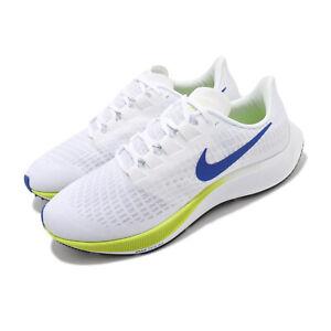 Nike Air Zoom Pegasus 37 Ekiden White Racer Blue Cyber Men Running BQ9646-102