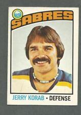1976-77 OPC O-Pee-Chee Hockey Jerry Korab #27 Buffalo Sabres *1
