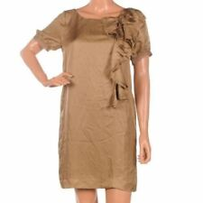 Shift 100% Silk Dresses for Women with Ruffle