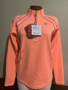 Sunice Megan 1/4 Zip Stretch Golf Pullover Papaya Ladies Small or Medium NWT NEW