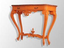 Console de style Napoléon III peinte orange
