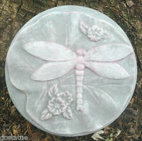 """Dragonfly stepping stone mold concrete plaster plastic mould 12/"""" x 1.75/"""""""
