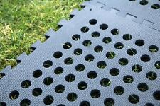30 FLOORING TILES ~ ~ ~ ~ ~ black indoor outdoor garden safety floor with holes