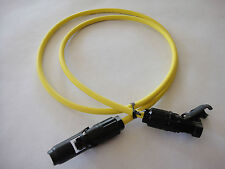 1 metre Solar Cable with CN30 Series Male & Female Solar Connectors 4mm2 yellow