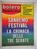 bolero 1085 Sanremo Foà Corrado Vitti Loren Armstrong Celentano Endrigo Al Bano