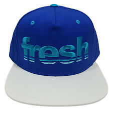 FRESH Embroidered 5 Panel Royal Blue/White Snapback