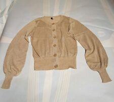 Ladies Cardigan Size 38 H&M Gold