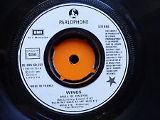 WINGS PAUL MCCARTNEY Mull of kintyre / girls school 2C006 60154 Labels blancs