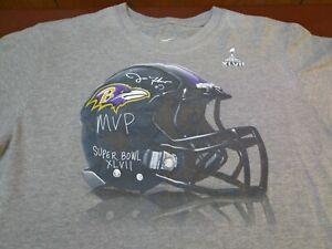 NFL Nike Baltimore Ravens Super Bowl MVP Joe Flacco #5 T Shirt Medium  K11