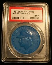 1960 Armour Coins Mickey Mantle Yankees Blue PSA NM 7