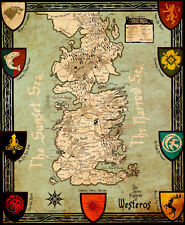 "Game of Thrones ( 11"" x 13-3/4"" ) Map Collector's Poster Print - B2G1F"