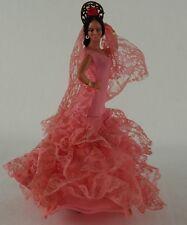 MARIN CHICLANA costume doll souvenir figure SPAIN 18 cm flamenco dancer pink