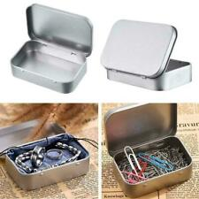 Metal Tin Box Container Blank Storage Case Coins Crafts Small Objects Organizer