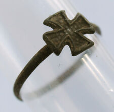 wwII GERMAN Ring IRON Cross WW2 or WW1 wwI GERMANY Soldier's Jewelry Bronze