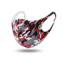 Mundschutz Behelf-Mund-Nasen-Atem-Schutz Maske Waschbar Camouflage Rot