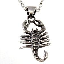 """Scorpio Sterling Silver Star Sign - Zodiac Pendant with 18"""" Chain & Box"""