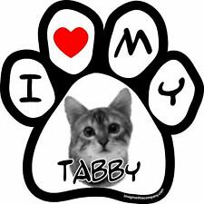 Imagine This I Love My Tabby Image Paw Car Magnet, 5-1/2-Inch by 5-1/2-Inch