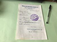 Kansas City Wholesale Automobile Supplies  Company 1910 Receipt 52384