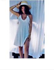 ZARA Lace Trim Strappy, Spaghetti Strap Knit Frilled Dress Size M