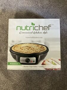 Nutrichef Electric Griddle And Crepe Maker