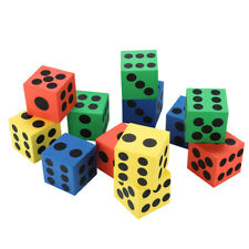 12/ 24 Pcs Eva Dice Six Sided Spot Dice Kid Game Soft Learn Play Blocks Dice Toy