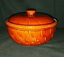 Vintage Robinson Ransbottom Pottery Casserole Bowl Dish w Lid RRP Roseville OH
