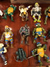 Large Teenage Mutant Ninja Turtles Action Figure Lot TMNT Vintage With Case