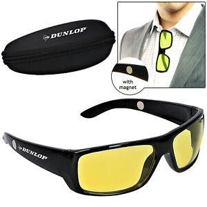 Dunlop Autofahrer Nachtsichtbrille Kontrastbrille Nachtfahrbrille Sonnenbrille
