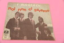 """SOLO COPERTINA NOMADI 7"""" NON CI SAREMO / UN RIPARO.. ORIG '60 EX !!!!!!!!!!!!!!!"""